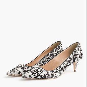 J. Crew Collection Calf Hair Kitten Heel Shoes
